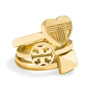 NEW Tory Burch Adeline Stackable Set of 3 Ring